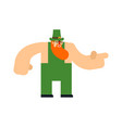leprechaun isolated st patricks day character vector image vector image