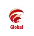 logo globe vector image vector image