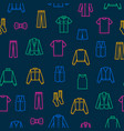 man clothes signs thin line seamless pattern vector image vector image