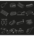meat food outline icons and symbols set eps10 vector image vector image