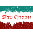 merry christmas lettering over background vector image vector image