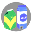 milk carton pack vector image vector image