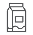 milk line icon drink and food milk pack sign vector image vector image