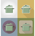 objects for food flat icons 02 vector image vector image