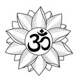 om and lotus tattoo vector image vector image