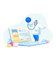 online medicine doctor or nurse character vector image