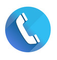 phone - long shadow icon style is a flat light vector image