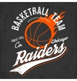 Raiders basketball team logo for sportwear vector image vector image