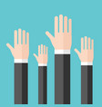 raised hands voting concept vector image vector image