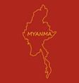 republic of the union of myanmar flag and map vector image vector image