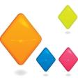 Rhombus blank award symbol vector image