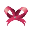 ribbon bow pink vector image