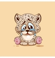 Sad Leopard cub crying vector image vector image