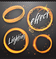 set of circle and eclipse shining light effects vector image vector image