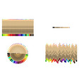 set of pencils on white background eps 10 vector image vector image