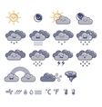 Set of weather grey icons vector image