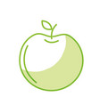 silhouette delicious apple fruit with exotic food vector image vector image