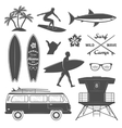 Surfing Icon Set vector image