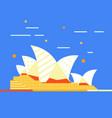 sydney australia famous city landmark vector image vector image