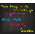 Three things in life vector image