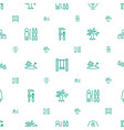 tree icons pattern seamless white background vector image vector image