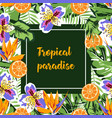 tropical card pattern vector image vector image