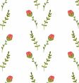 Watercolor seamless pattern with roses vector image vector image