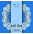 Wedding wreath frame design Winter frozen glass vector image vector image