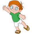 boy waving vector image
