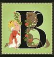 children book cartoon fairytale alphabet letter b vector image