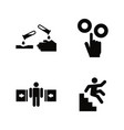 hazard and danger simple related icons vector image