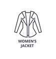women jacket line icon outline sign linear vector image