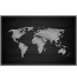 World Map - Chalkboard vector image