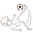 A plain sketch of a soccer player vector image vector image