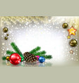 abstract greeting with christmas decorations and vector image vector image