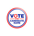american circle candidate vote graphic design vector image