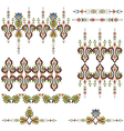 Antique ottoman turkish pattern design eighty vector image vector image