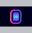 b pink blue gradient alphabet letter logo icon vector image