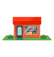 bakery shop facade isolated icon vector image