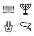 bible menorah hamsa orthodox crossreligion set vector image vector image