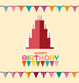 birthday celebration design with flags and paper vector image