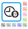 bitcoin credit clock framed icon vector image vector image