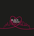 black friday in the city the perfect sale white vector image