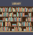 Bookcase In Library vector image vector image