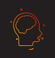 brain icon design vector image