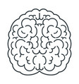 brain white icon top view mind creativity and vector image vector image