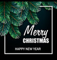 christmas with realistic fir branches vector image vector image