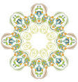 circular floral background two vector image vector image
