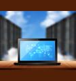 cloud storage realistic image vector image vector image