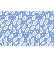 cute hand drawn rain drops seamless pattern vector image vector image